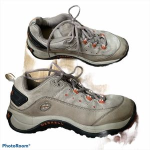 Merrell Grey and Orange Hiking Shoes / Boots